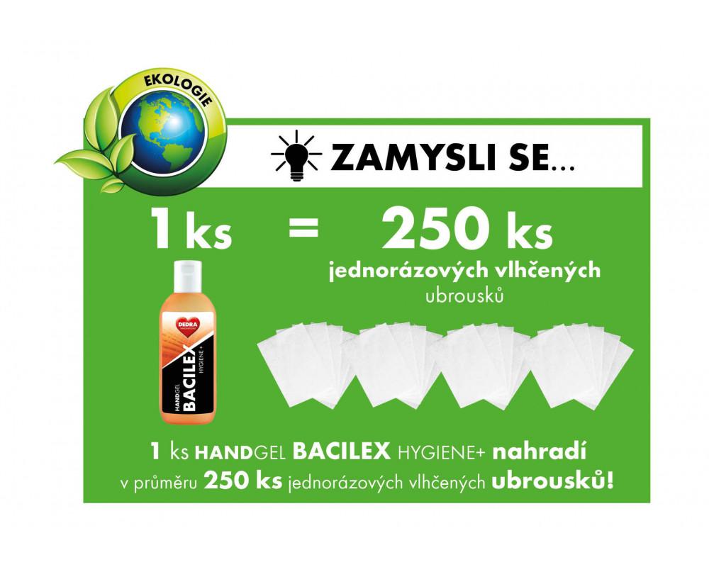 BB01721S-2 + 1 ZADARMO čistiaci gél na ruky s vysokým obsahom alkoholu, 3x100ml, HANDGEL BACILEX Hygiene +